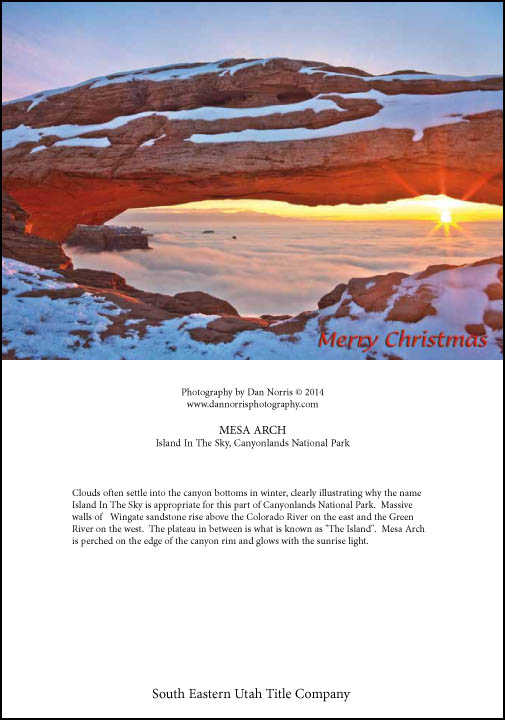Custom holidaychristmas cards this photo is also available mesa arch inversion 1 m4hsunfo